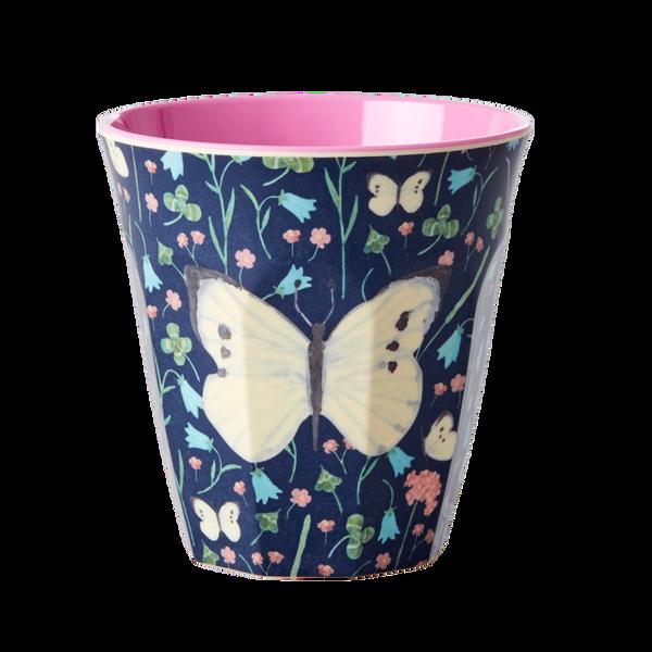 Bilde av KOPP - Mørkeblå - Butterfly Print - Rice