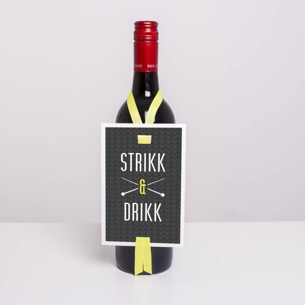 Bilde av VINKORT - Strikk & Drikk
