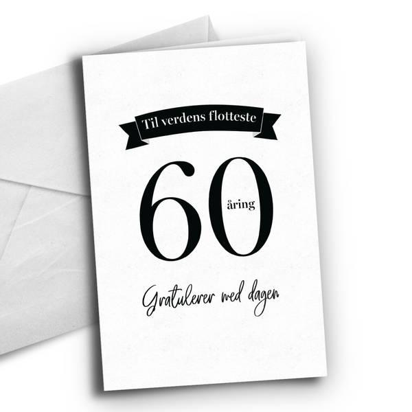 Bilde av KORT - 60 åring - Bursdagskort
