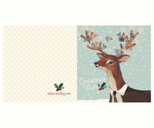 Bilde av KORT - Reindeer - Christmas - Maileg
