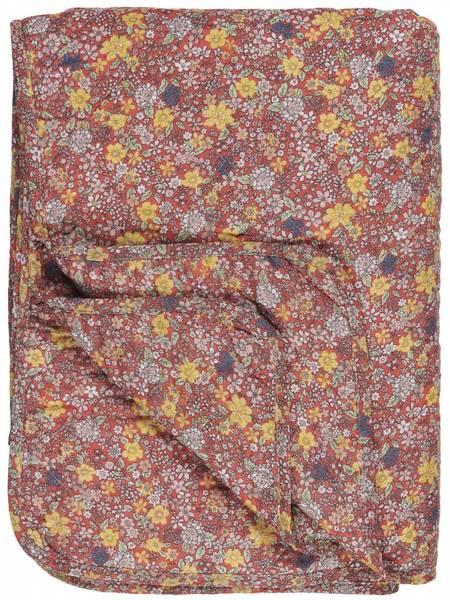 Bilde av TEPPE - Quilt - Faded Rose Med Blomster - Ib Laursen