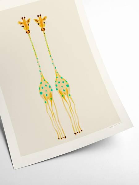Bilde av PLAKAT - Maxime - Curious Giraffes #2 - 30x40