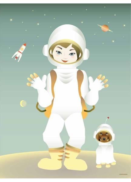 Bilde av PLAKAT - The Astronaut - Vissevasse