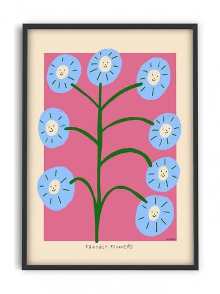 Bilde av PLAKAT - Madelen - Fantasy Flowers II - 30x40