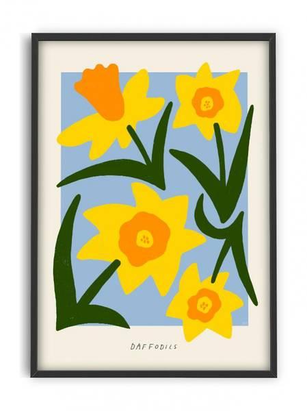 Bilde av PLAKAT - Madelen - Daffodils - 50x70